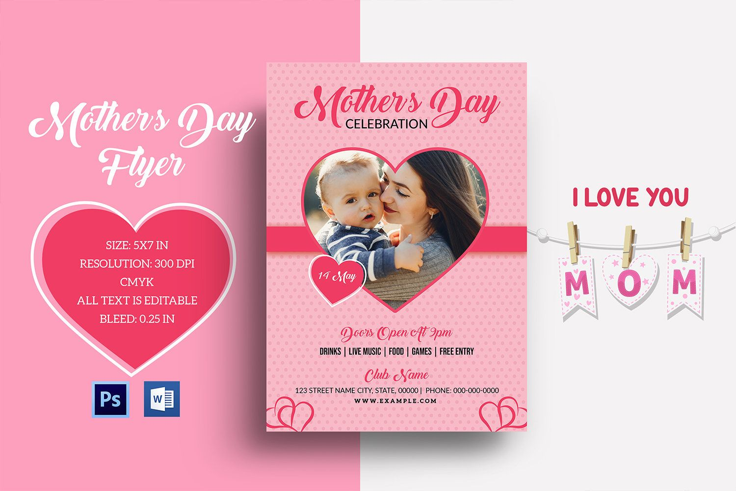 Printable Mothers Day Invitation Template Mothers Day Party