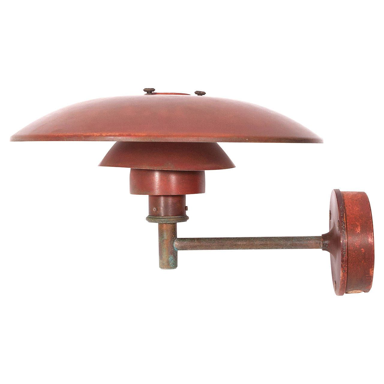 Poul Henningsen Solid Copper Outdoor Lamp 4 3 From A Unique Collection Of Antique