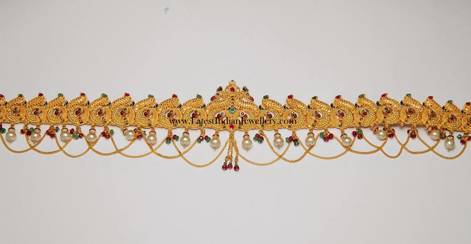 Gold vaddanam oddiyanam kammarpatta waisbelt designs south indian - Lakshmi Design Ruby Stones Oddiyanam Kamarpatta Indian Waist Hip Belt Chain Waist Belt Odiyanam Kamarpatta Pinterest Ruby Stone Chains And Stone