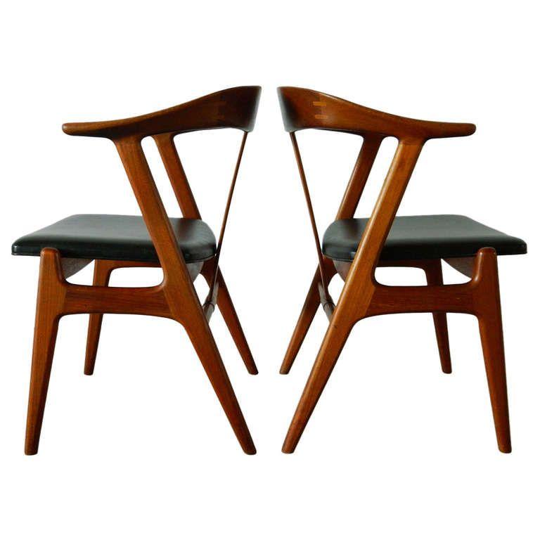 Torbjorn Afdal Teak Chairs For Bruksbo 1960s Med Bilder Stol Interior Mobler