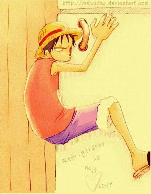 Luffy x refrigerator <3