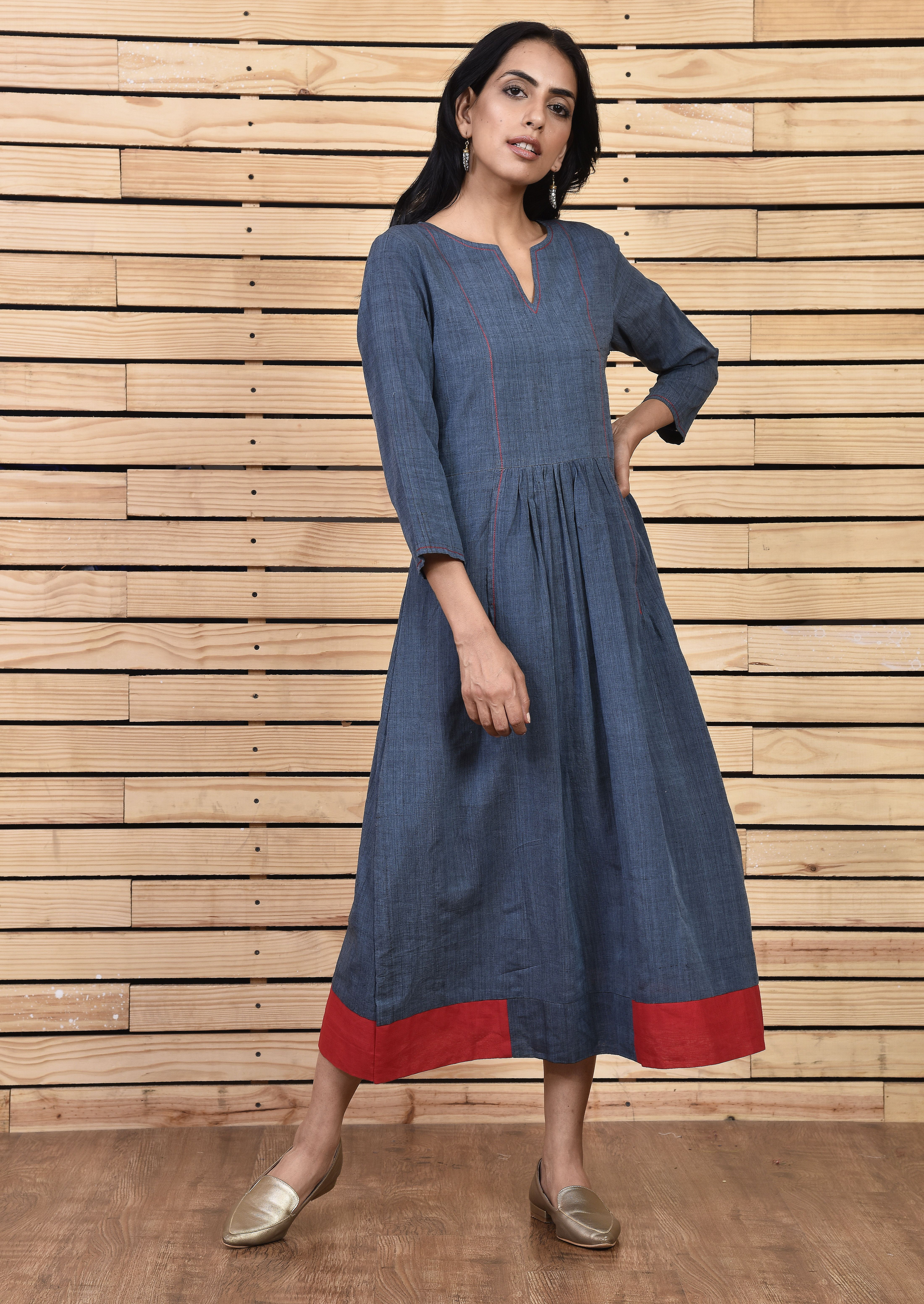 Maxi Dress With Sleeves Charcoal Gray Maxi Dress With Sleeves Cotton Dress Summer Shift Dress [ 6208 x 4400 Pixel ]