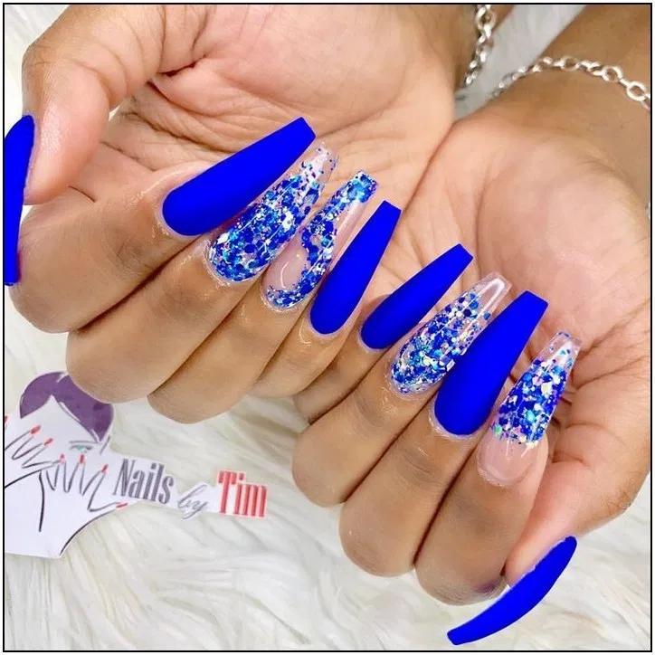 167 Stunning Dark Blue Nail Designs