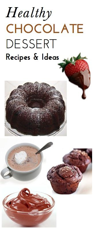 5 Super Easy, Delicious, Lower-Calorie Chocolate Dessert Recipes We Love -- yum!!!