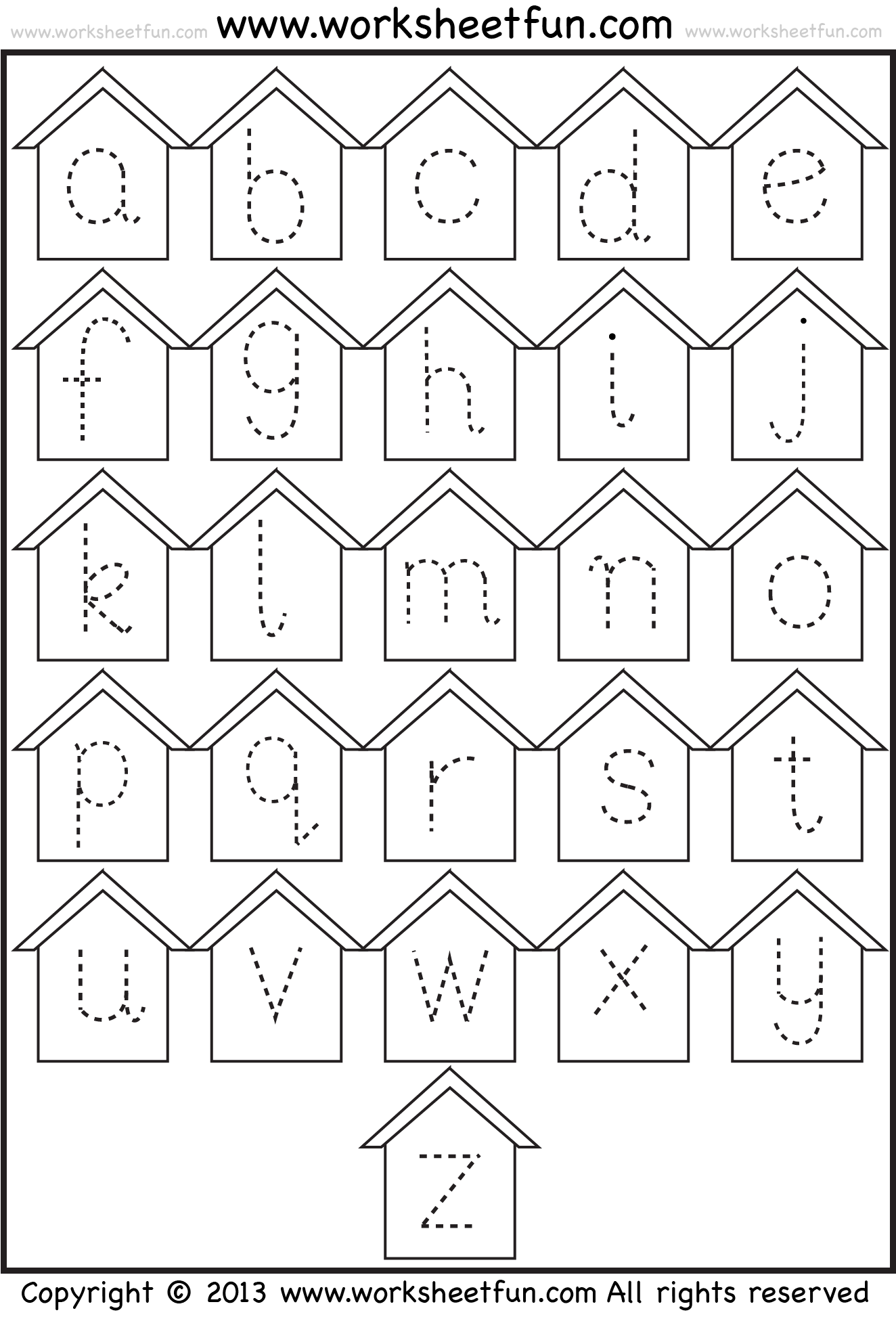 small letter tracing Free preschool worksheets, Tracing
