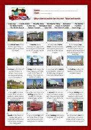 English worksheet: London | ESL - London | Learn english, English