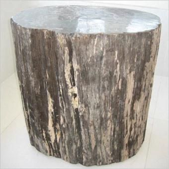 This Is A Unique Accent Table Of Petrified Wood. Petrified Wood Was Created  By Volcanic