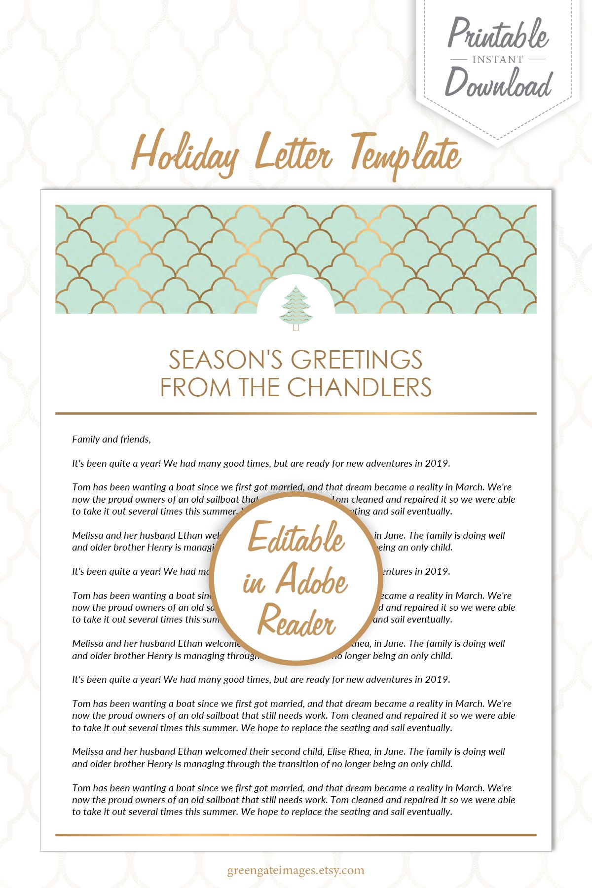 Family Letter Template holiday letter template