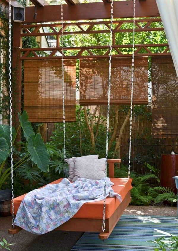 22 Creative Outdoor Swing Bed Designs For Relaxation Outdoor Bed