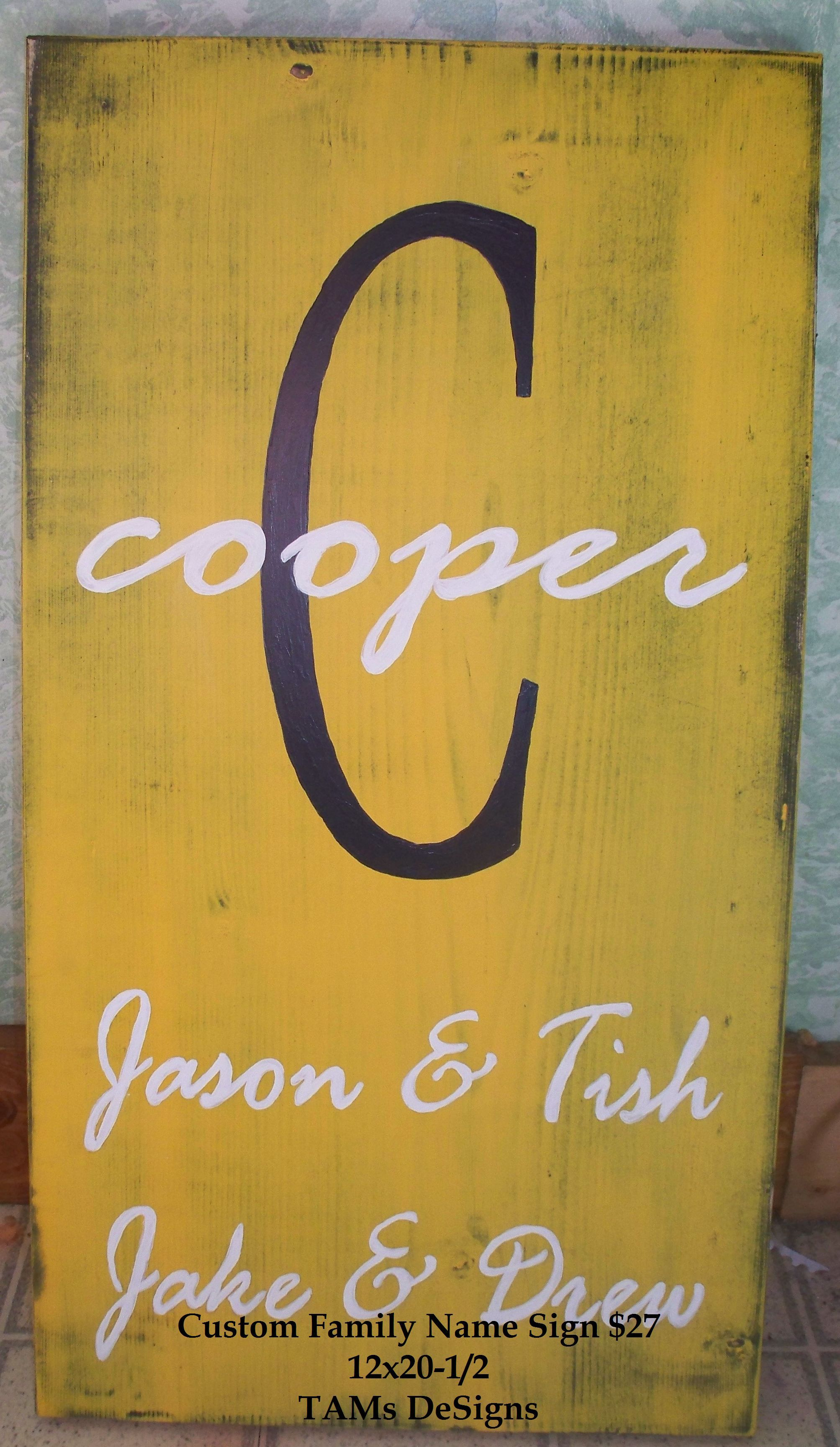 Custom Family Name Sign by Simply Country Wood DeSigns | Country ...