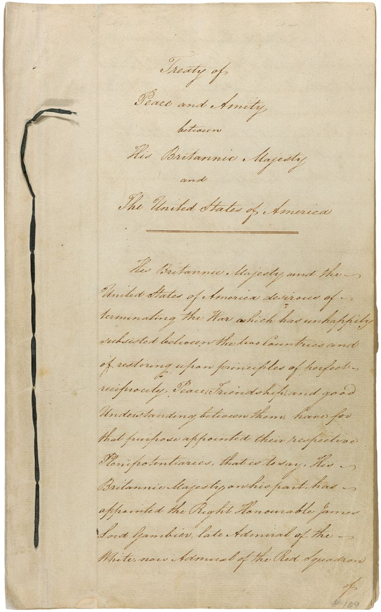 0011 Treaty of Ghent UNITED STATES HISTORY War of 1812