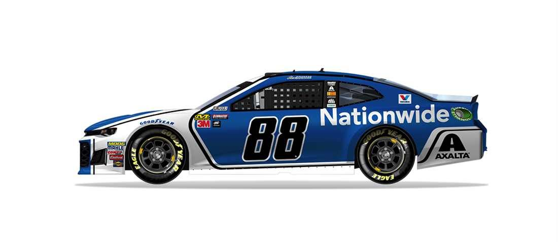Nascar 2018 Paint Scheme Preview Wednesday February 7 Alex Bowman Will Drive The No 88 Nationwide Chevrolet Casts Photo 36