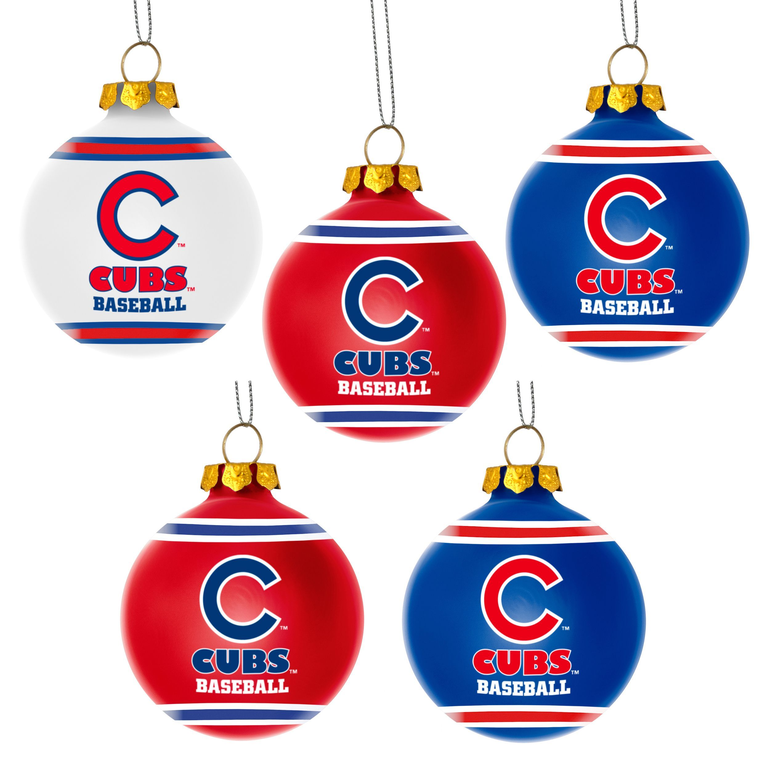 Cubs Christmas Ornaments.Keith S Tree Forever Collectibles Chicago Cubs Shatterproof