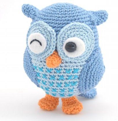 Hiboux bleu hiboux en crochet crochet patron et en fran ais - Ouvrages au crochet avec explication ...