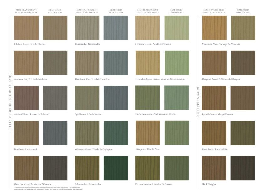 Benjamin Moore Co Solid Stain Colors Deck Stain Colors Exterior Stain Colors
