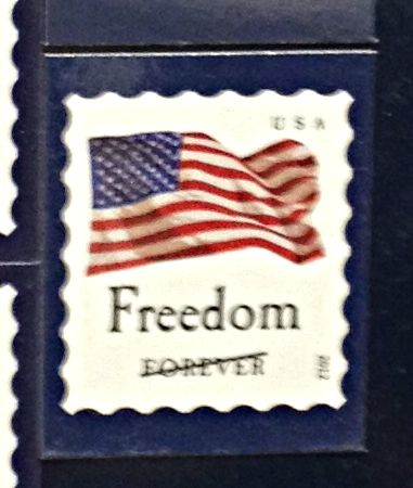 Nothing is forever. From a display of stamps available for purchase at the Post Office.