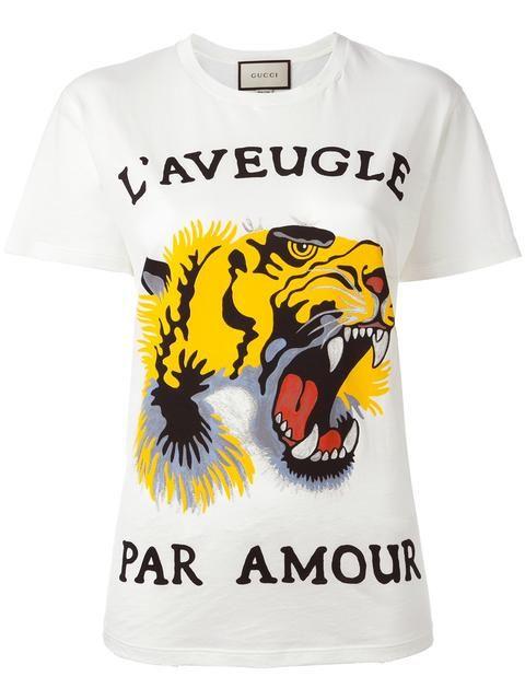 09573d5c0ff9 GUCCI tiger print T-shirt. #gucci #cloth #тигра | Gucci