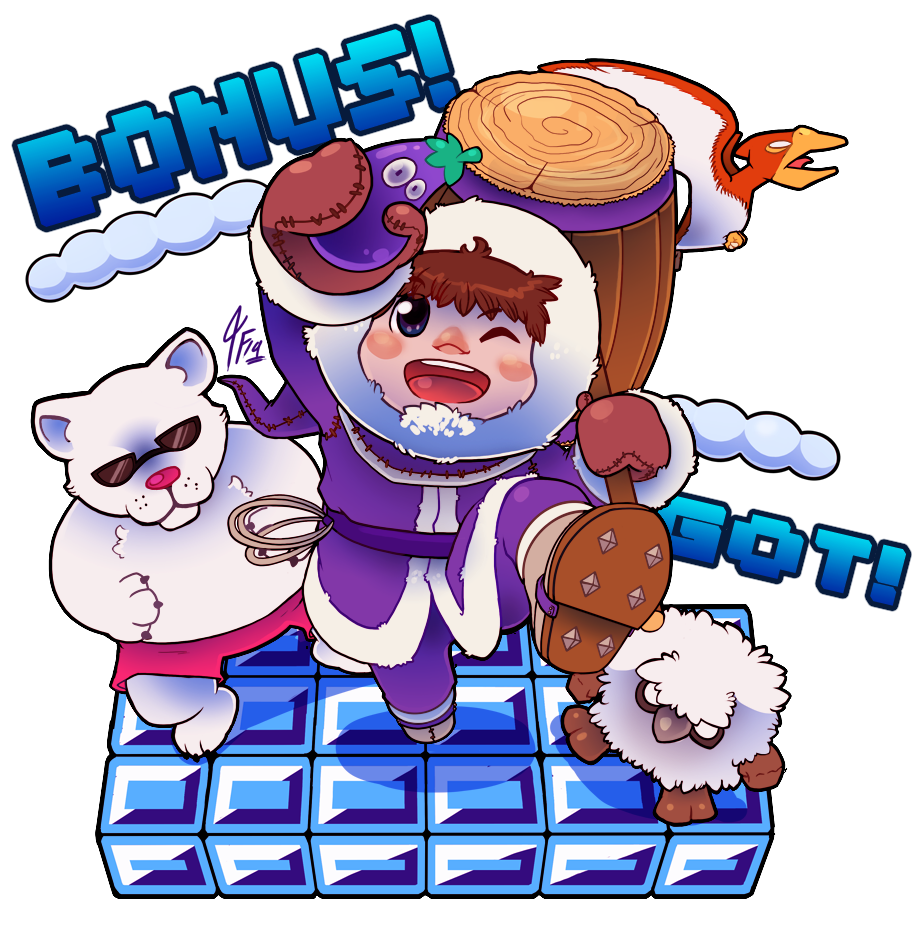 Bonus Got Ice Climber Super Smash Brothers Video Game Fan Art