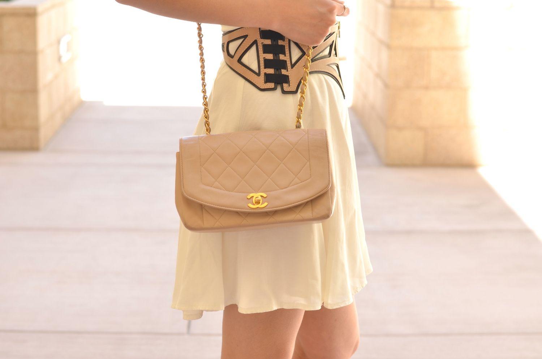 21b09dfadac0 Classic 2.55 Beige Chanel Diana Flap Bag