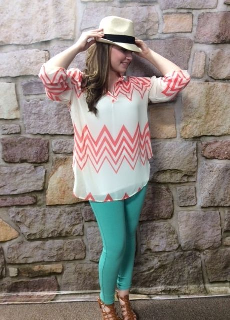 #chevron #teeforthesoul Super cute! Sizes 12-18 Tee for the soul
