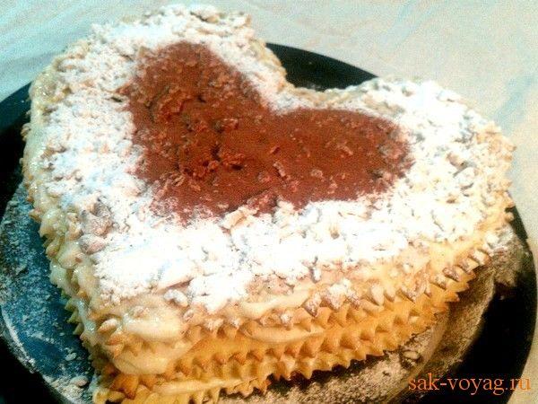 Торт наполеон со слоеного теста пошаговый рецепт с фото