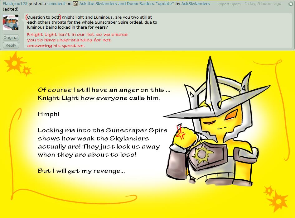 Ask the Skylanders 44 - Luminous by AskSkylanders deviantart