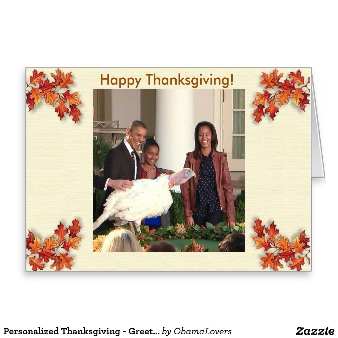 Personalized thanksgiving greeting card thanksgiving greeting cards personalized thanksgiving greeting card kristyandbryce Choice Image