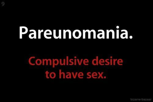 compulsive.