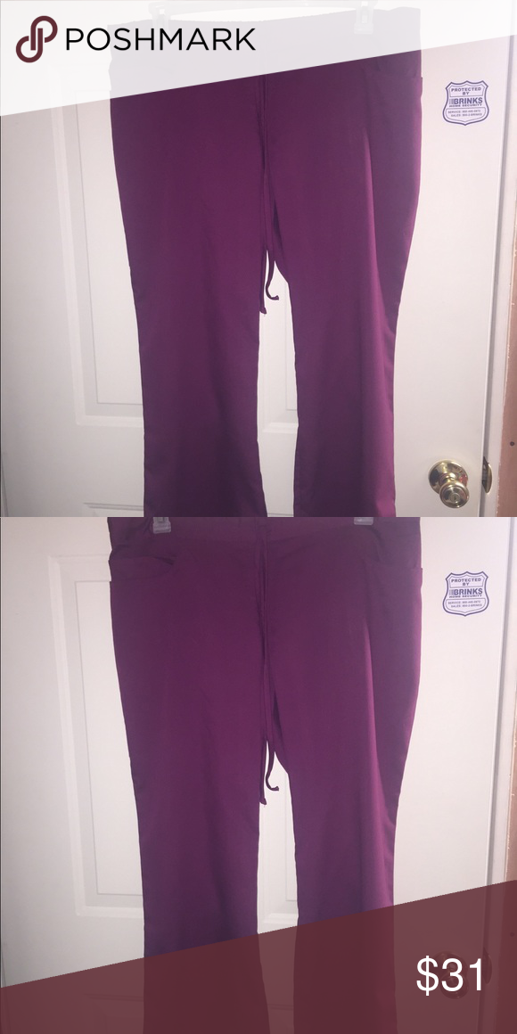 68fded2d0b3 2 new xl petite greys anatomy scrub pants 2 pairs of xl petite scrub pants.  Color is wine. Greys anatomy greys anatomy Pants Wide Leg