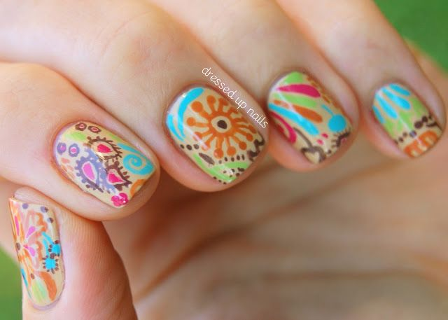 A fun and colorful look with lots of shapes and sizes
