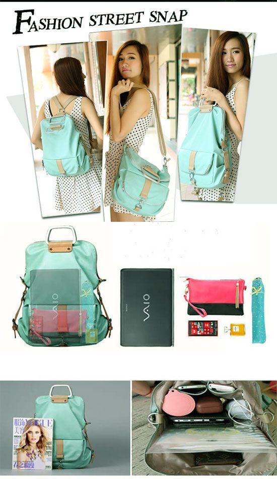 Unique Fresh Multifunction Backpack Handbag Shoulder Bag For