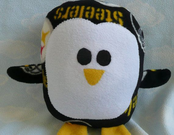 Plush Pittsburgh Steelers Penguin Pillow Pal Baby Safe Machine