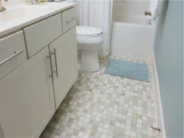 Small Bathroom Floor Flooring Ideas