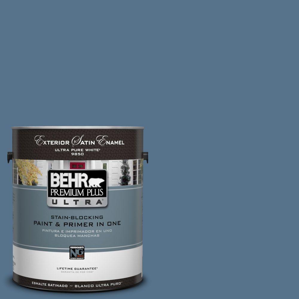 BEHR Premium Plus Ultra 1-Gal. #UL230-3 Arrowhead Lake Satin Enamel Exterior Paint
