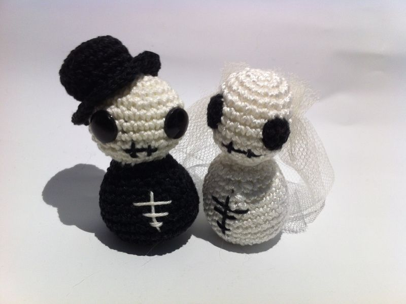 Amigurami Skelett-Brautpaar von HeileWelt65 auf DaWanda.com | Häkeln ...