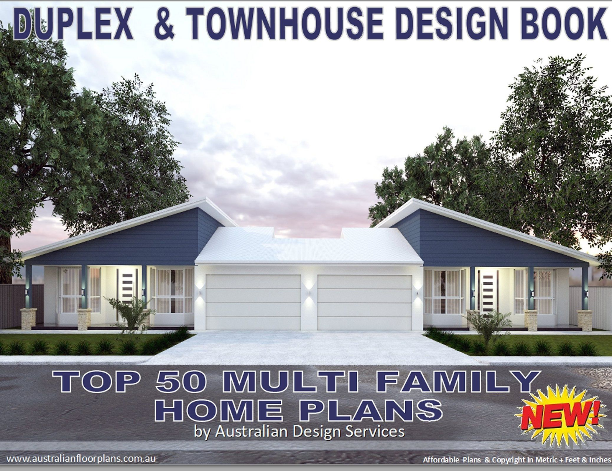 Best Selling Duplex Home Designs Architectural Home Designs Etsy Family House Plans Duplex House Design Duplex House Plans