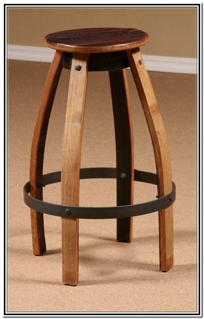 Wine Barrel Bar Stools Whiskey barrel furniture, Wine