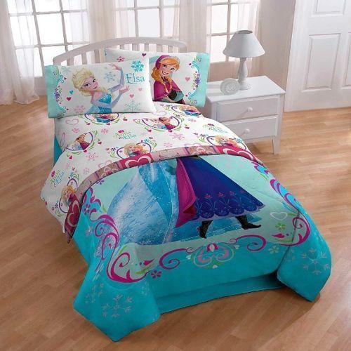 Cheap Bedroom Sets Kids Elsa From Frozen For Girls Toddler: Disney's Elsa Frozen Anna Springtime Floral Twin Bed Sheet