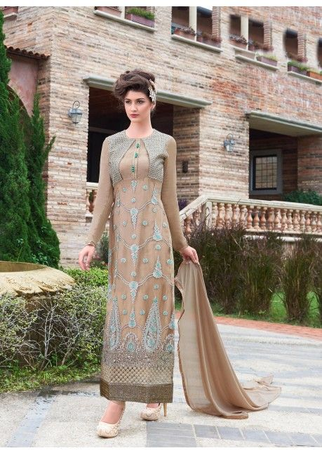 The lovely embroidered and lace work through the dress is awe inspiring. Have a look http://www.triveniethnics.com/collection/alisha-vol-2.html?utm_content=bufferc90c5&utm_medium=social&utm_source=pinterest.com&utm_campaign=buffer