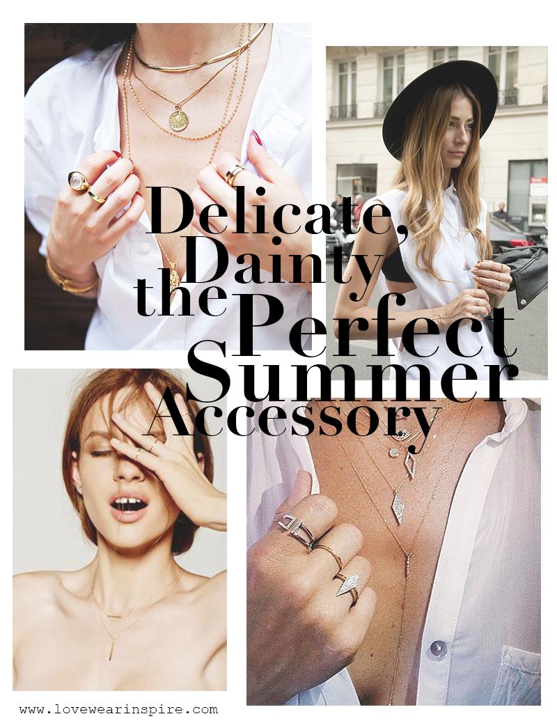Dainty Jewelry for Summer // Love.Wear.Inspire