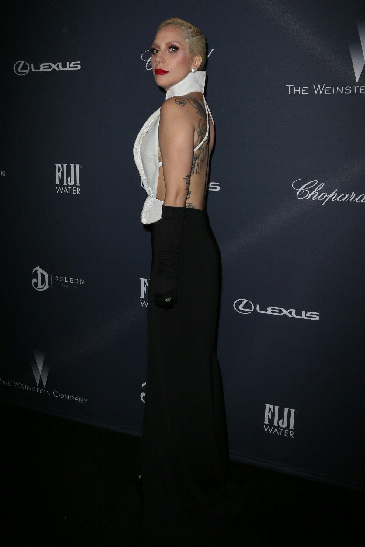 Lady Gaga attends Weinstein Company Pre-Oscar Dinner in Beverly Hills (Feb. 27)