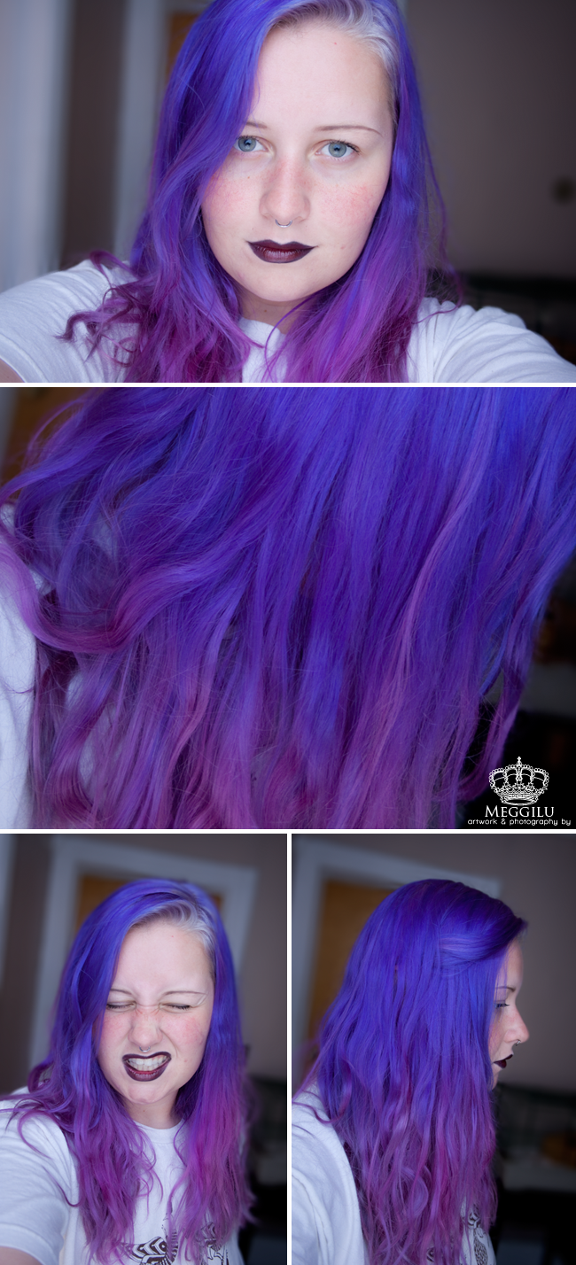 Manic panic ultra violet top half of hair special effects