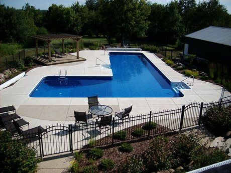 Inground Pools Shapes l shaped swimming pool wisconsin | l shapes pool designs