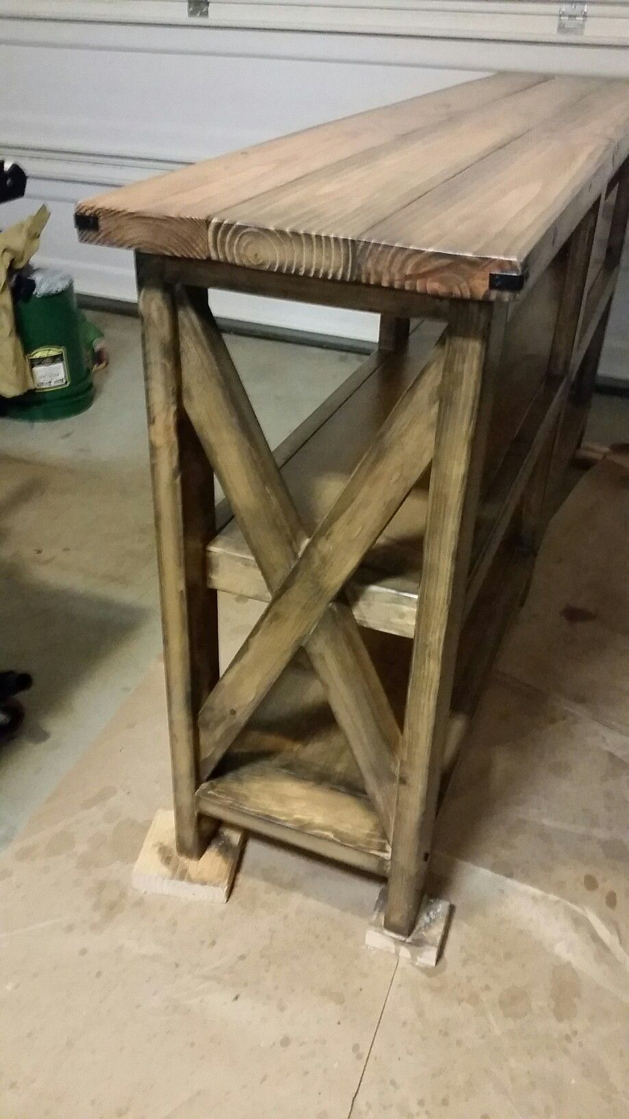 Farm Style X Frame Sofa Table Woodworks Sofa Frame Custom