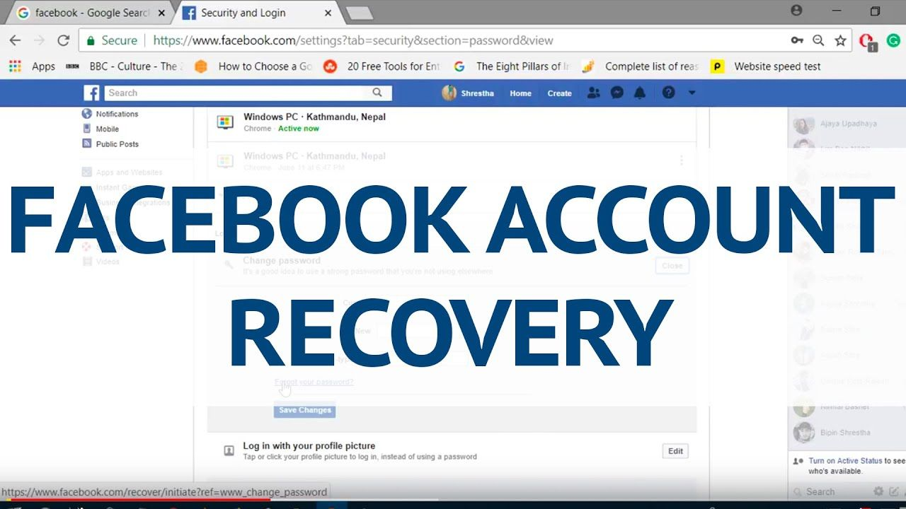 Recover Facebook Account In 2020 Account Recovery Facebook Inbox Messages Accounting