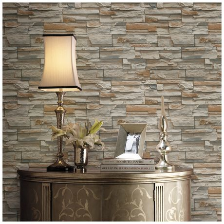 Home Trends Multi Stone Flat Pack Wallpaper for sale at