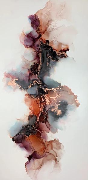 Alocohol Ink Painting   Mandy Marie Art
