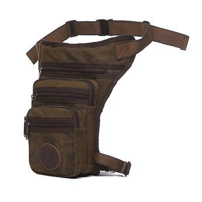 Mens Tactical Leg Pouch Tactical Fanny Pack Military Hip Bum Bag Canvas Drop Leg Bag Motorcycle Riding