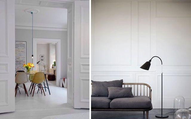 C mo decorar casas con molduras de pared decoraci n y for Decorar puertas con molduras