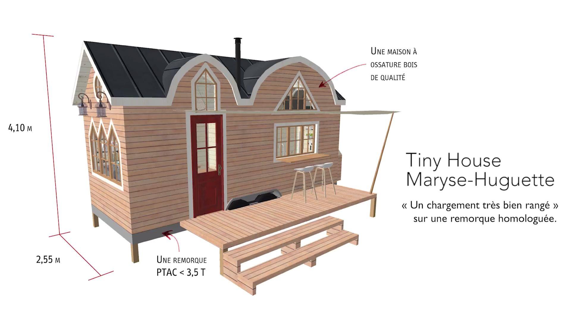 Entreprise de fabrication de la maison qui chemine tiny houses sur mesure dans le périgord constructions nomades à ossature bois habitats insolites et